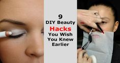 9 DIY Beauty Hack You Wish You Knew Earlier Diy Beauty, Beauty Hacks, How To Apply Concealer, White Eyeliner, Colorful Eyeshadow, Diy Makeup, Dark Circles, Lip Liner, Color Pop