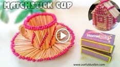 Matchstick Craft tutorials - Matchstick House, Circle, Cup, Stars... - ArtsyCraftsyDad