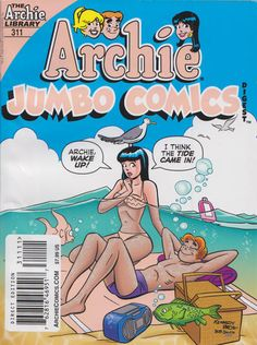 GCD :: Cover :: Archie Double Digest #311 Archie Comic Books, Archie Comics, Double Digest, Archie Andrews, Betty And Veronica, Comics Story, Ink Color, Say Hello, Beach