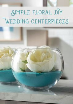 Learn how to make these simple and beautiful DIY wedding centerpieces in a matter of minutes. Just a few steps and you're done. So budget friendly!