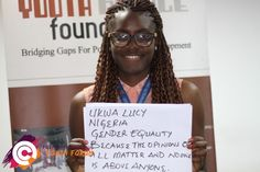 Meet Lucy from Nigeria who believes that gender equality is a top priority.  The Post-2015 Consensus youth forums are a platform for young people around the globe to express their top priorities for post-2015 development agenda! For more information visit www.post2015consensus.com/youth-forum