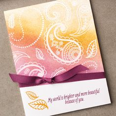 Paisleys & Posies Photopolymer Stamp Set by Stampin' Up!