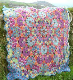 Kaleidoscope   Crochet Afghan/Blanket  PDF by Amanda Perkins Designs #crochetblanket #crochetafghan