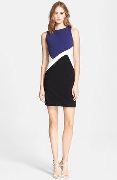Emilio Pucci Colorblock Punto Milano Sheath Dress