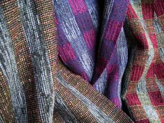 "Diversified Plain Weave (Thick 'N Thin variation) Scarves, chenille-rayon-cotton, 9""x65"", 2011"