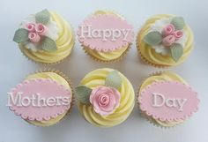 Delicious customised cupcakes, cookies and celebration cakes, beautifully decorated for any occasion. Fathers Day Cupcakes, Mothers Day Cake, Happy Mothers Day, Cupcake Day, Cupcake Cakes, Best Mothers Day Wishes, Cute Baking, Mother's Day Cookies, Fondant Cake Toppers