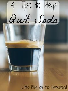 4 Tips to Help Quit Soda