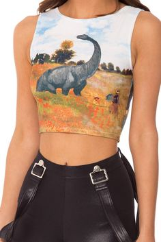 Jurassic Art Wifey Top trade (or size swap my m for your small) and listed on posh My Black, Black Tops, Black Milk Clothing, Rave Outfits, Mom Style, Tees, Shirts, Crop Tops, Women's Tops