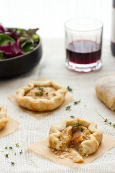 Gruyère & caramelized onion  tartelettes, sounds devine!