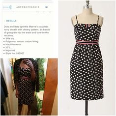 """Anthropologie Maeve Polka Dots Pepper Bow Dress New and never worn still with tag attached. cute Maeve dress with polka dot detail with bow and bold striped underneath the breast area. Strapless style. No marks or damages. Measured about 31"""" length, 13"""" waist, 13.5"""" bust. ❌No trades or modeling of this dress. Sorry. Thanks for checking my closet out! Happy Poshing‼️ Anthropologie Dresses Strapless"""