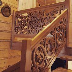 wood carved balustrade