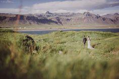 iceland bride and groom via green wedding shoes. So pretty!