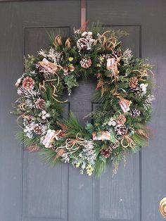 Christmas wreath, Christmas door wreath, Wreath Christmas, Winter wreath, Holiday wreath, pine cone wreath, Artificial Christmas wreath,