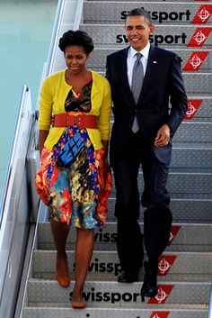 Michelle Obama fashion with belt - great over cardigan and dress under.  She had the worst fashion sense!