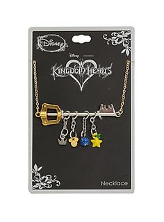 Lead a charmed life // Disney Kingdom Hearts Keyblade Charm Necklace