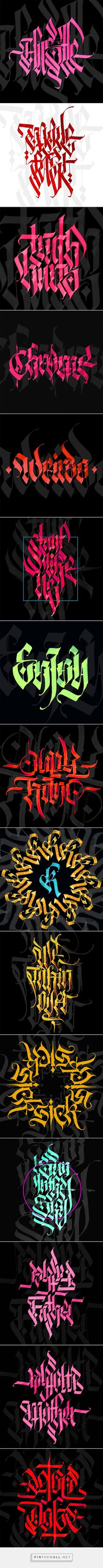 Calligraphy with parallel pen collection on Behance - created via http://pinthemall.net