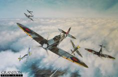 Combat over the Pas de Calais by Simon Smith. - Cranston Fine Arts Aviation, Military and Naval Art