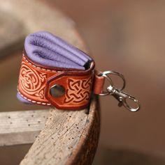 Keychain Birthday gift. Leather Keychain. Coin by secondstudio