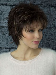 Winter Synthetic Wig by Rene of Paris Short Choppy Hair, Short Shag Hairstyles, Short Hair With Layers, Short Hair Cuts For Women, Short Hairstyles For Women, Medium Hair Styles, Curly Hair Styles, Great Hair, Fine Hair