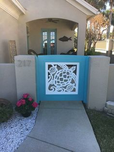 Our beautiful, all-weather PVC gate and porch railing panels add instant coastal decor to your home! Beautifully crafted for years of durable enjoyment, it will provide add beauty and value to your ho Decor, Beach House Decor, Florida Home, Turtle Decor, Beach Cottage Style, Beach Decor, Cottage Decor, Coastal Wall Decor, Coastal Decor