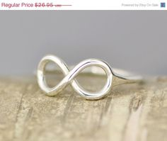 Valentines Day Sale Infinity Ring Thumb by TheJewelryGirlsPlace