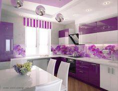 Kitchen in purple