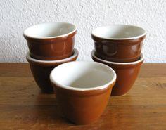 Hall Stoneware Bean Bowls-Set of 5 by MarketHome on Etsy, $28.00