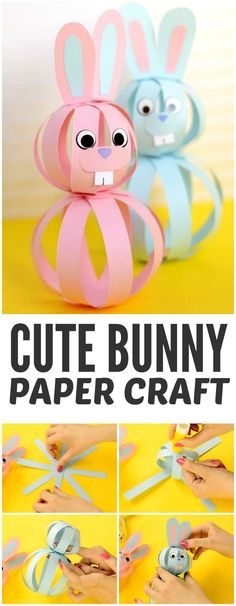 Cute and Simple Paper Bunny Craft for Kids to Make - perfect idea for Easter cra. - Art Ideas - Cute and Simple Paper Bunny Craft for Kids to Make – perfect idea for Easter crafting - Rabbit Crafts, Bunny Crafts, Cute Crafts, Simple Paper Crafts, Basket Crafts, Simple Art And Craft, Simple Craft Ideas, Fun Ideas, Easy Crafts