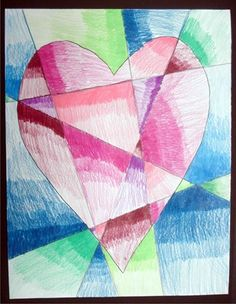 Fractured hearts - make this with multiple canvases with outline for kids to paint in...take picture and turn into cards to sell to rest of the class