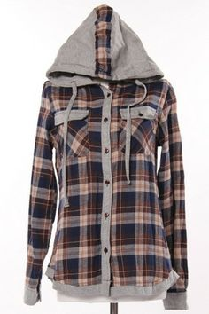 Plaid Button Up Hoodie | Infinite Chic | leggings, cardigans, tops, accessories | A must visit online women's boutique | infinite-chic.com