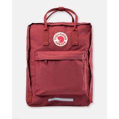 Fjallraven Kanken Ox Red Kanken Big Backpack (2.910 CZK) ❤ liked on Polyvore featuring bags, backpacks, lightweight backpack, shoulder strap backpack, shoulder strap bag, light weight backpack and zipper bag