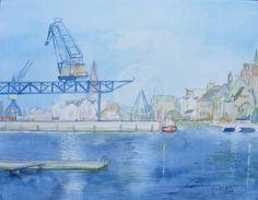 Hanse Sail – als Fotos und Aquarelle Hanse Sail, Baltic Sea, Sailing Ships, Westerns, The Good Place, Nautical, Watercolors, Landscape, Drawings