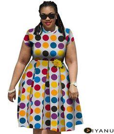 African Print Elegant Plus Size Dress – kats African Dresses Plus Size, African Fashion Ankara, Latest African Fashion Dresses, African Dresses For Women, African Print Fashion, Africa Fashion, African Attire, African Prints, African Style