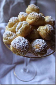 Julia Child Cream Puff recipe filled with coconut cream pie filling.  So good.
