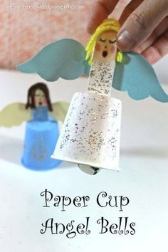 Dixie Cup Christmas Bells - Christmas and winter arts and crafts for kids. See out Santa and angel bells Arts And Crafts Storage, Arts And Crafts For Teens, Art And Craft Videos, Arts And Crafts House, Crafts For Girls, Preschool Christmas, Christmas Crafts For Kids, Christmas Activities, Christmas Art
