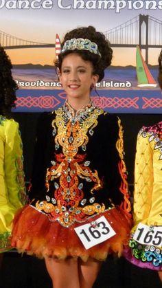 Divine Black Michelle Lewis Irish Dance Dress Solo Costume For Sale