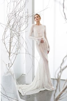 The Elia Gown from the Mira Zwillinger Whisper of Blossom Collection // see them all at www.onefabday.com