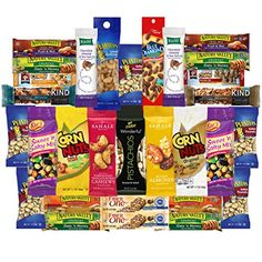 Healthy Nuts  Bars Variety Snacks Pack 30 Count >>> Want additional info? Click on the image. (Note:Amazon affiliate link)
