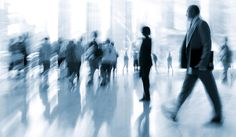 lobby in the rush hour is made in the manner of blur and a blue tonality - stock photo Economic Environment, Sales Agent, Royalty Free Stock Photos, Rush Hour, Blur, Illustration, Illustrations