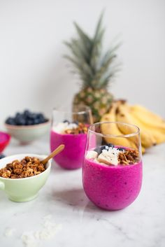 Dragon Fruit Smoothie  #smoothie #drink #healthy #fruit #vegetables