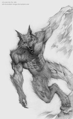 Werewolf by IDN-Konzalaev-Sergei on DeviantArt