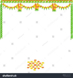 Unique and colorful design of flower borders and background pattern made up of marigold flower and the mango tree leaves, useful for decoration on the door in Indian festival and celebrations. Wedding Background Images, Banner Background Images, Background Patterns, Gold Background, Wedding Banner Design, Flex Banner Design, Mango Flower, Marigold Flower, Free Invitation Templates