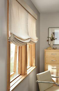 Custom Modern Window Treatments: Roman Relaxed shades