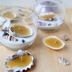 Seashell Beeswax Tea Lights