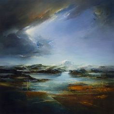 ARTFINDER: Snowdonia II by Michael Hall - Oil on Board 71cms x 71cms x 4.5cms (Framed)  (All works can be bought unframed - Unframed 61cms x 61cms x 0.6cms - price £2,300.)  My images of Snowdonia...