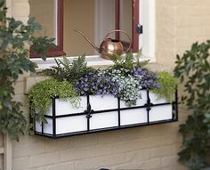 (before I give my 2 cents about the beauty of flower/window boxes I want to say I finally figured out how to put the comment option back on . Container Plants, Window Box Flowers, Garden Windows, Flower Window, Fall Windows, Wrought Iron Window Boxes, Diy Window, Fall Window Boxes, Balcony Flower Box