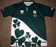 4e9da1d8875 London Irish St Patrick's Day Shirt. Special Edition London Irish St  Patrick Day Pro 2011 Rugby Jersey