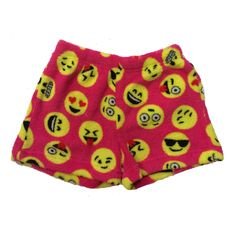 So Nikki Little Girl's Super Soft Fleece Pajama Shorts - Emoji Faces Cute Pjs, Cute Pajamas, Fleece Pajamas, Girls Pajamas, Visual Kei, Emoji Room, Emoji Things, Emoji Stuff, Creepy