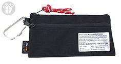 Rough Enough Military Ballistic Cordura Small Pouch Bag with Carabiner (Black) (*Amazon Partner-Link)