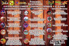 Conozcan nuestras próximas #excursiones, aparten sus lugares y pueden ir pagando poco a poco.  Más información en: Tels: 01 (229) 202 65 57 y 150 83 16  Cel - WhatsApp: 2291476029 y 2291508316  Email / Hangouts: turismoenveracruz@gmail.com Link http://www.turismoenveracruz.mx/